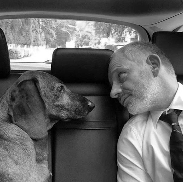Michael Lott mit Hund